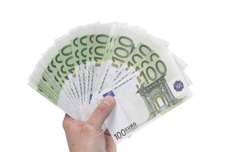 contando dinero: Dinero Foto de archivo