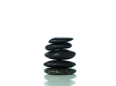 hot stone massage: Pile of black stones with copy space Stock Photo