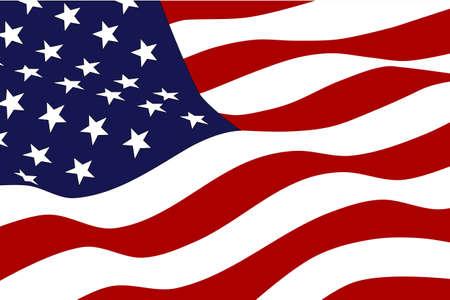 Flagge von Amerika Illustration