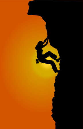 dare: Free climbing Stock Photo