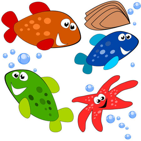 Sea life illustration Stock Vector - 9543880