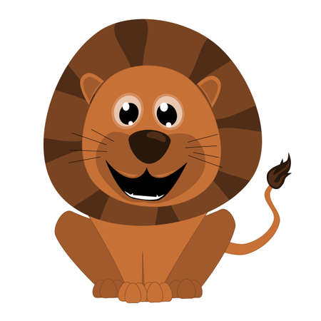 Illustration of a cute lion Vector