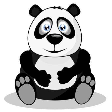 Giant panda, vector illustration Vector