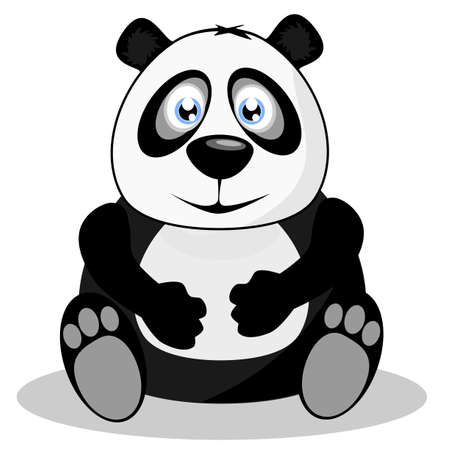 �  giant panda: Panda gigante, ilustraci�n vectorial Vectores