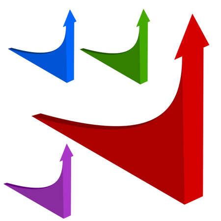 Upswing arrows in 3D Vector