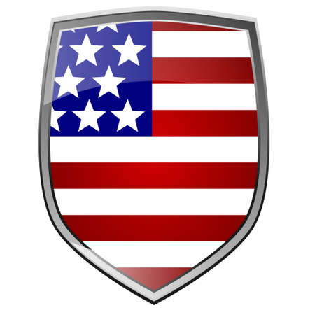 Shield with the flag of the USA photo