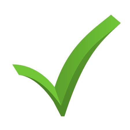 Green check mark Banco de Imagens
