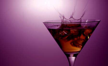 Cocktail splash bar background photo