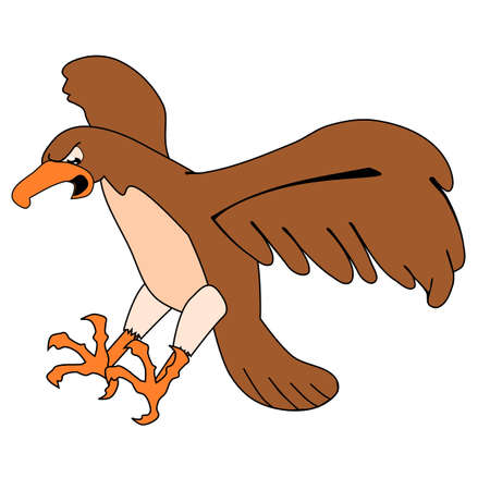 buzzard: Cartoon illustration of an eagle Illustration