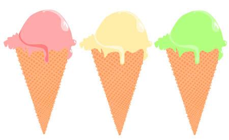 Ice cream cone Stock Vector - 9781995