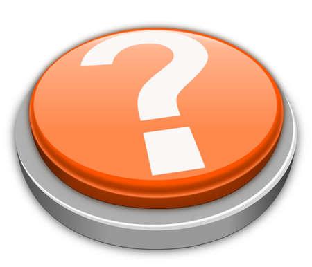 Question mark button in orange Stock Photo - 9782120