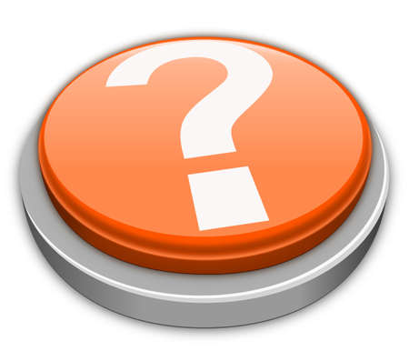 Question mark button in orange photo