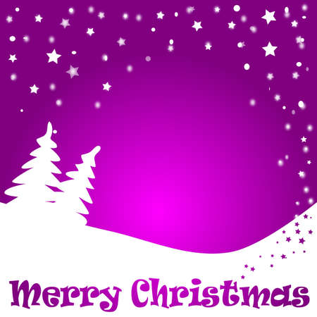 Chirstmas background in purple photo