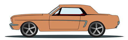 oldie: Illustration of a vintage sports car Stock Photo