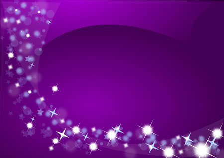 Christmas background in purple with stars photo