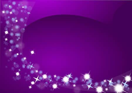 Sfondo Natale in viola con le stelle