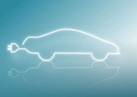 Silhouette of a car, engery concepts Stock Photo - 10284843