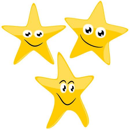 Funny stars , cartoon illustration Stock Vector - 10416554