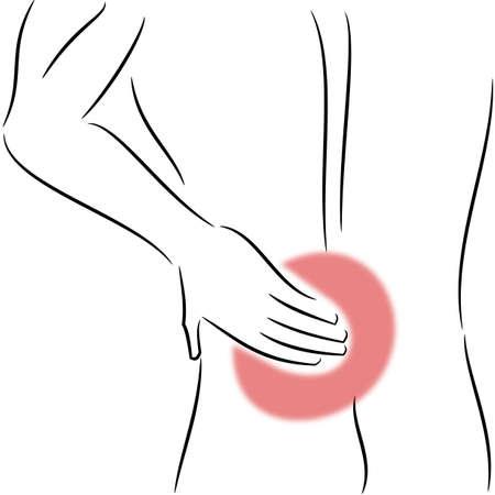 man back pain: Back pain illustration