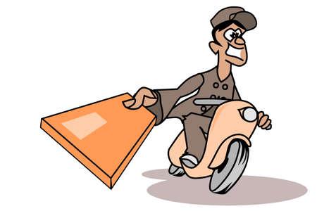 deliverer: Cheerful parcel deliverer