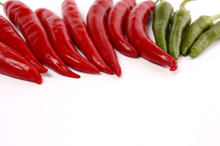 Chili pepper on a white background Stock Photo - 10503273