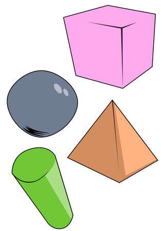 Hand drawn Geometric objects