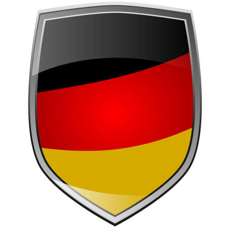Shield of Germany on white photo