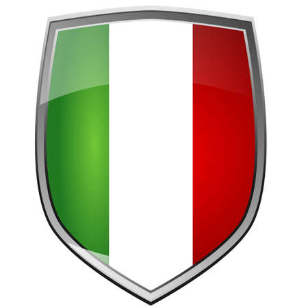 Shield of Italy on white photo