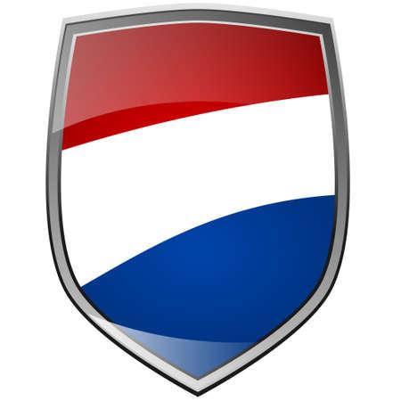 drapeau hollande: Bouclier de la Hollande sur fond blanc Banque d'images