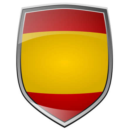 Shield of Spain on white photo