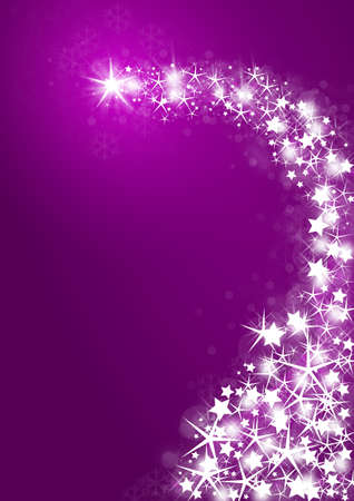 estrellas moradas: Fondo morado con estrellas brillantes Foto de archivo