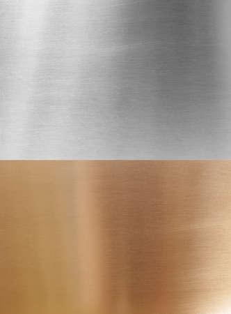 Messing und Aluminium Hintergründen Standard-Bild