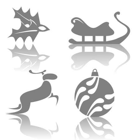 ilex: Illustration of Christmas icons