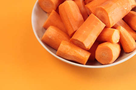 Fresh carrots in a bowl photo