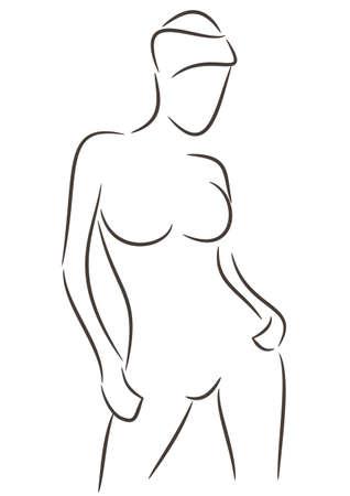 Notion de beauté, silhouette d'une belle femme