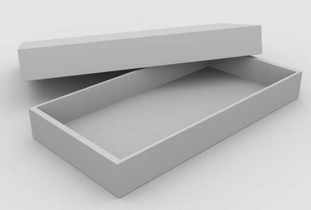 Open box, 3D image photo