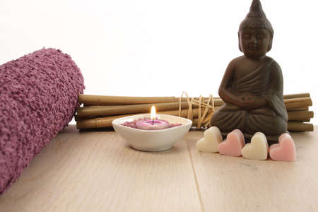 Spa background with copy space photo
