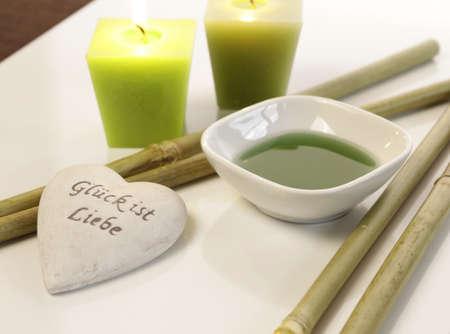 bath additive: Bath additive with candles Stock Photo