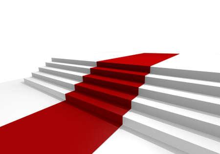 red velvet: Red carpet, 3d image Stock Photo