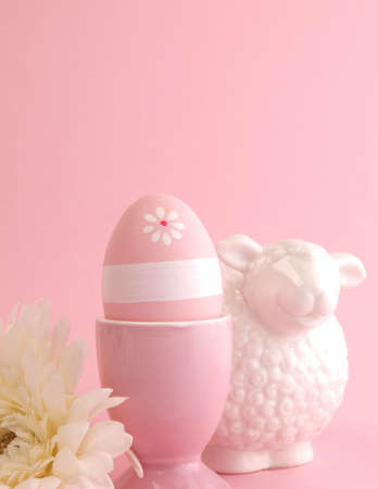 Pink Easter background     photo