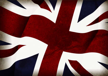 Union Jack mit Textur