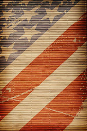 Textured background with the flag of America