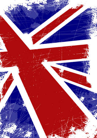 British flag with scratches Vector