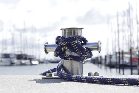 cleat: Steel cleat with a modern rope