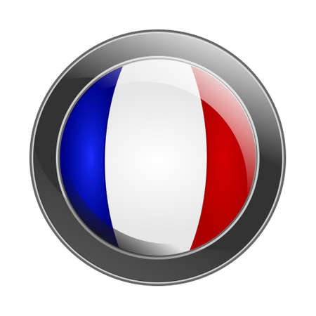 Protective shield with the flag of France photo