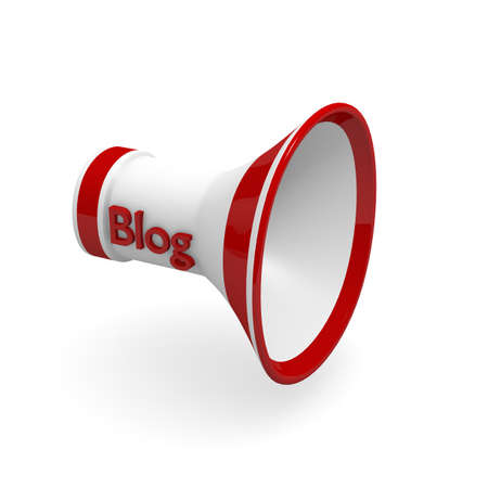 Megaphone with word Blog Stock Photo - 14436724