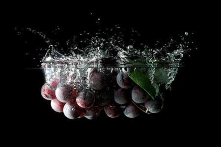Splashing grapes photo