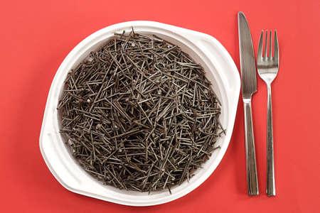 La deficiencia de hierro, el concepto de alimentos Foto de archivo