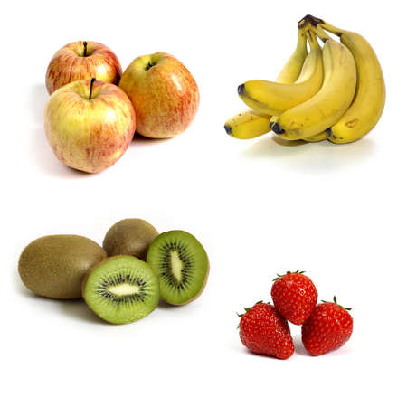 Fresh fruits on a white background  photo