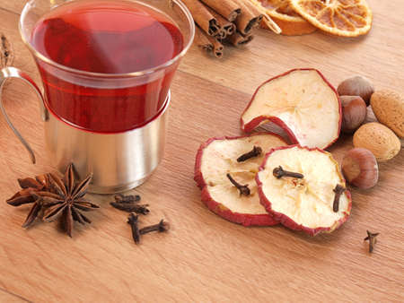 red tea: Delicious tea in Christmas time     Stock Photo